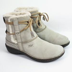 UGG Australia Cove Sand Leather Ankle Boots